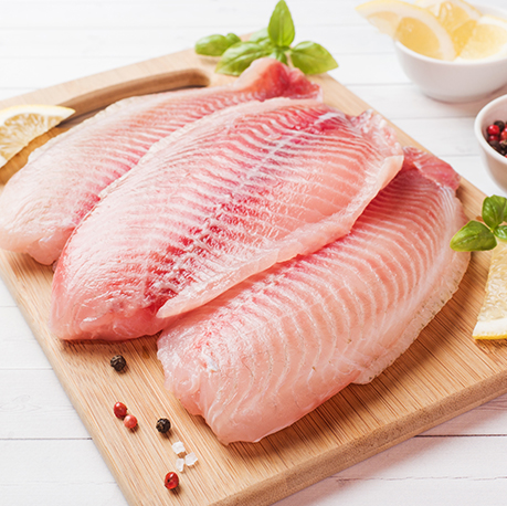 Frozen Tilapia Fillet 4 Pieces Total Weight 1 5 2lb Ocean Seafood Depot